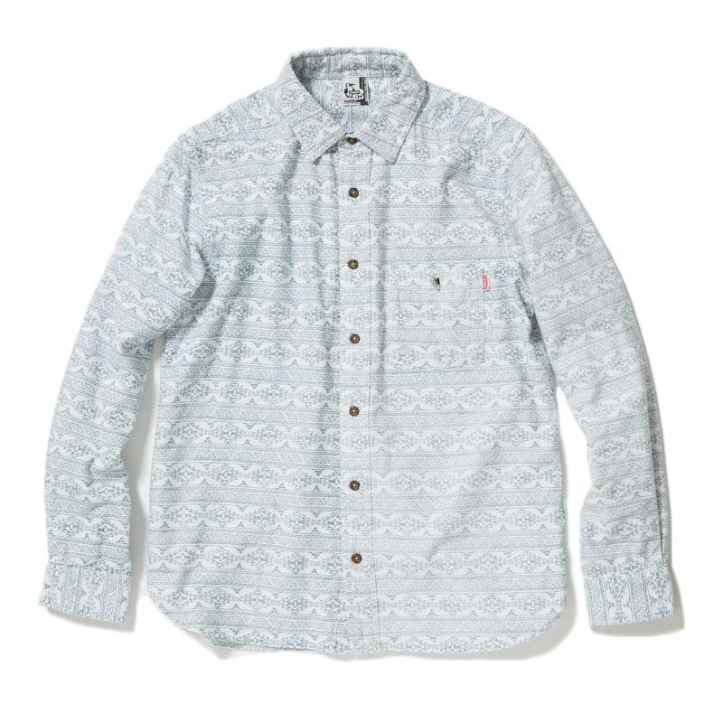 プリントネルシャツ