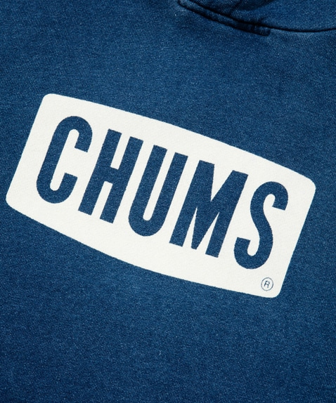 CHUMS Logo Pull Over Parka Indigo