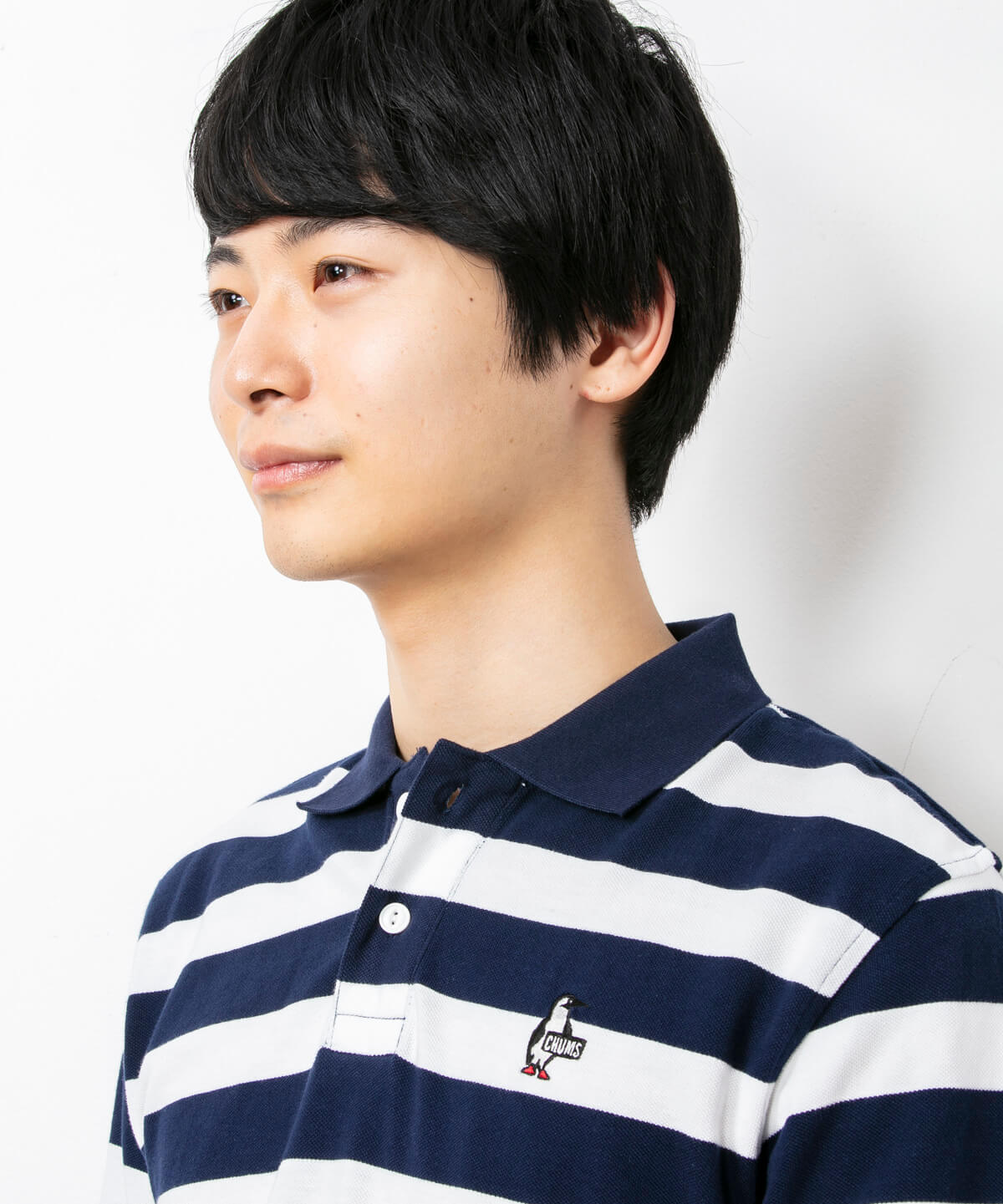 Booby Border L/S Polo Shirt(ブービーボーダーロングスリーブポロシャツ(ポロシャツ))