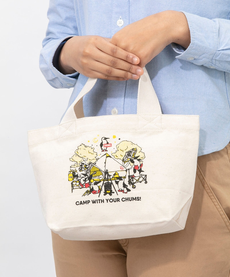 Camp With Your CHUMS Mini Canvas Tote(キャンプウィズユアチャムスミニキャンバストート(トートバッグ))