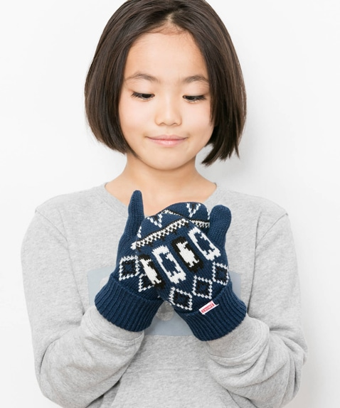 Kids Holiday Chilly Knit Mitton(キッズホリデイチリーニットミトン)
