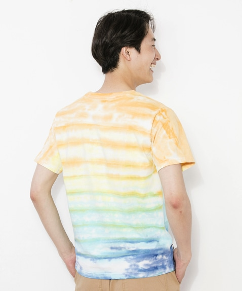 CHUMS Logo T-Shirt Tie-Dye Border