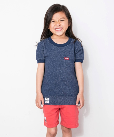 Kids S/S Booby Logo Crew Top(キッズ半袖ブービーロゴクルートップ)