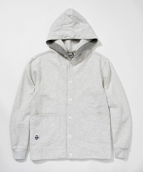 White Button Hoodie(ホワイトボタンフーディー(トップス/パーカー))