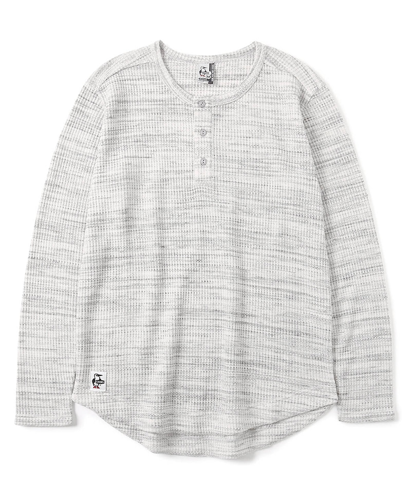 Waffle Henley L/S T-Shirt(ワッフルヘンリーロングTシャツ(トップス/カットソー))