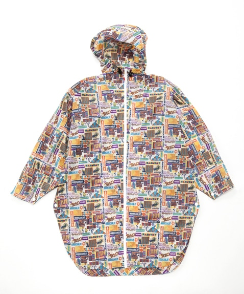 Booby Face Poncho Print Women's