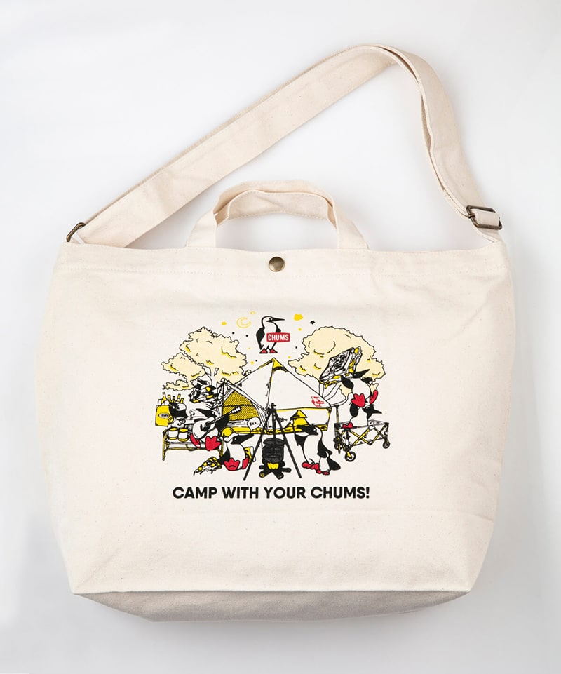 Camp With Your CHUMS Canvas Shoulder(キャンプウィズユアチャムスキャンバスショルダー(ショルダーバッグ))