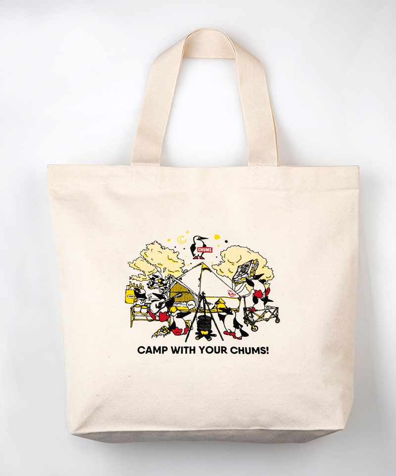 Camp With Your CHUMS Canvas Tote(キャンプウィズユアチャムスキャンバストート(トートバッグ))