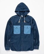 Denim CPO Hooded Shirt Women's(デニムCPOフーデッドシャツ)