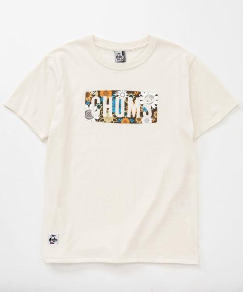 ボタニカルフラワーロゴTシャツ