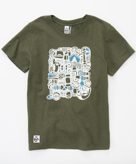 キャンプグッズTシャツ