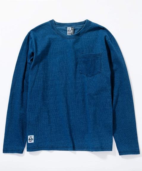 ユタポケット長袖Tシャツインディゴ(トップス/カットソー)