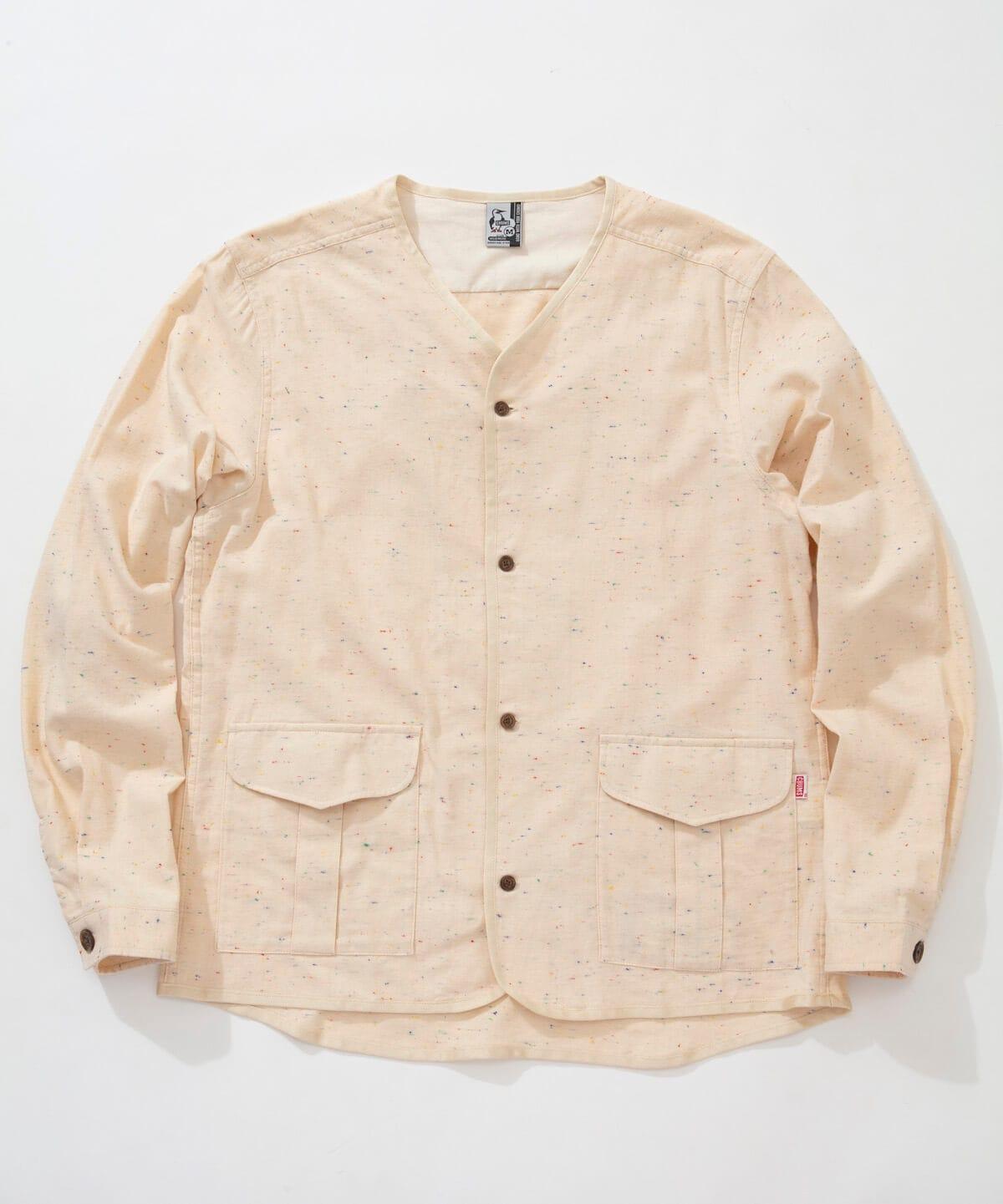ノーカラーネップシャツ(トップス/シャツ)