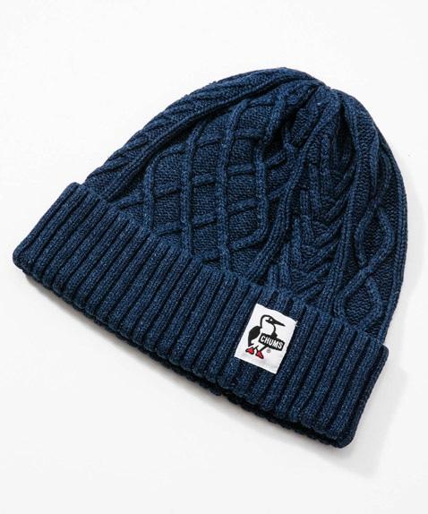 インディゴニットキャップ(帽子)