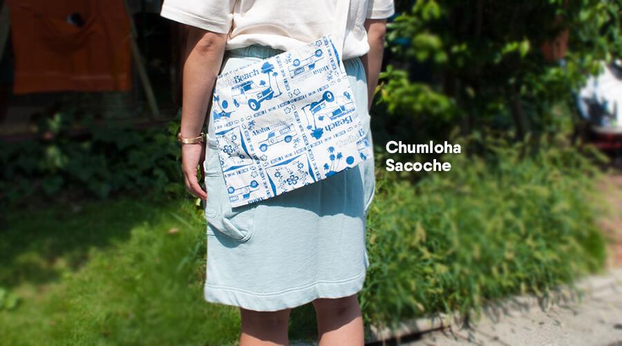 Chumloha Shirtでも使用したコットン100%生地のサコッシュ