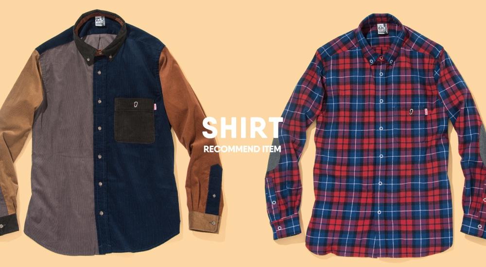 カジュアルでカラフルなチャムスらしい可愛いシャツシリーズ